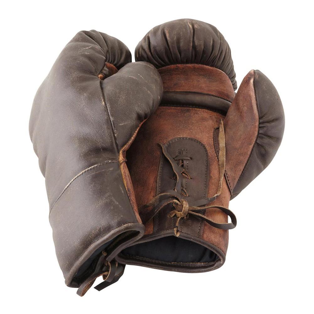 vintage boxing gloves h 32cm maisons du monde. Black Bedroom Furniture Sets. Home Design Ideas