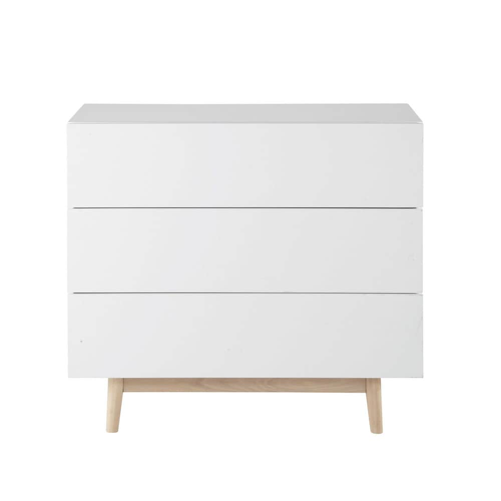 Vintage chest of drawers in white artic maisons du monde - Commode design scandinave ...