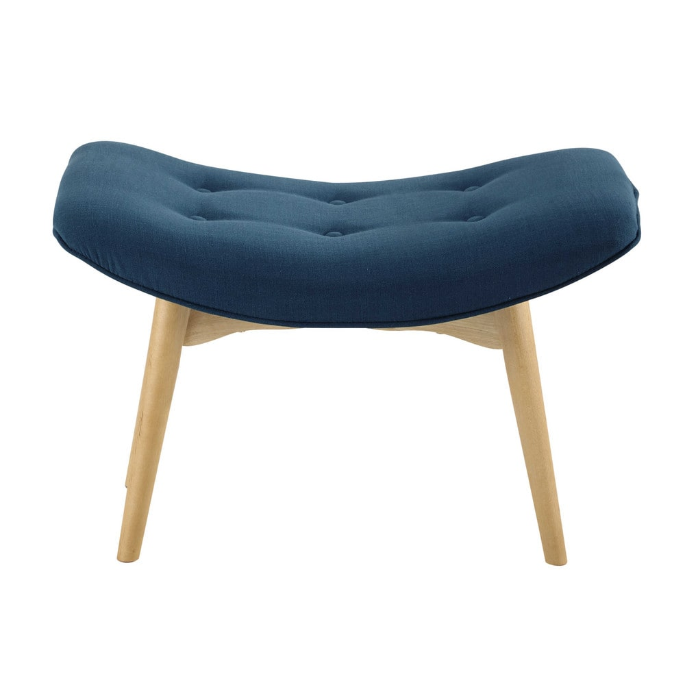 vintage pouffe footrest in petrol blue iceberg maisons. Black Bedroom Furniture Sets. Home Design Ideas