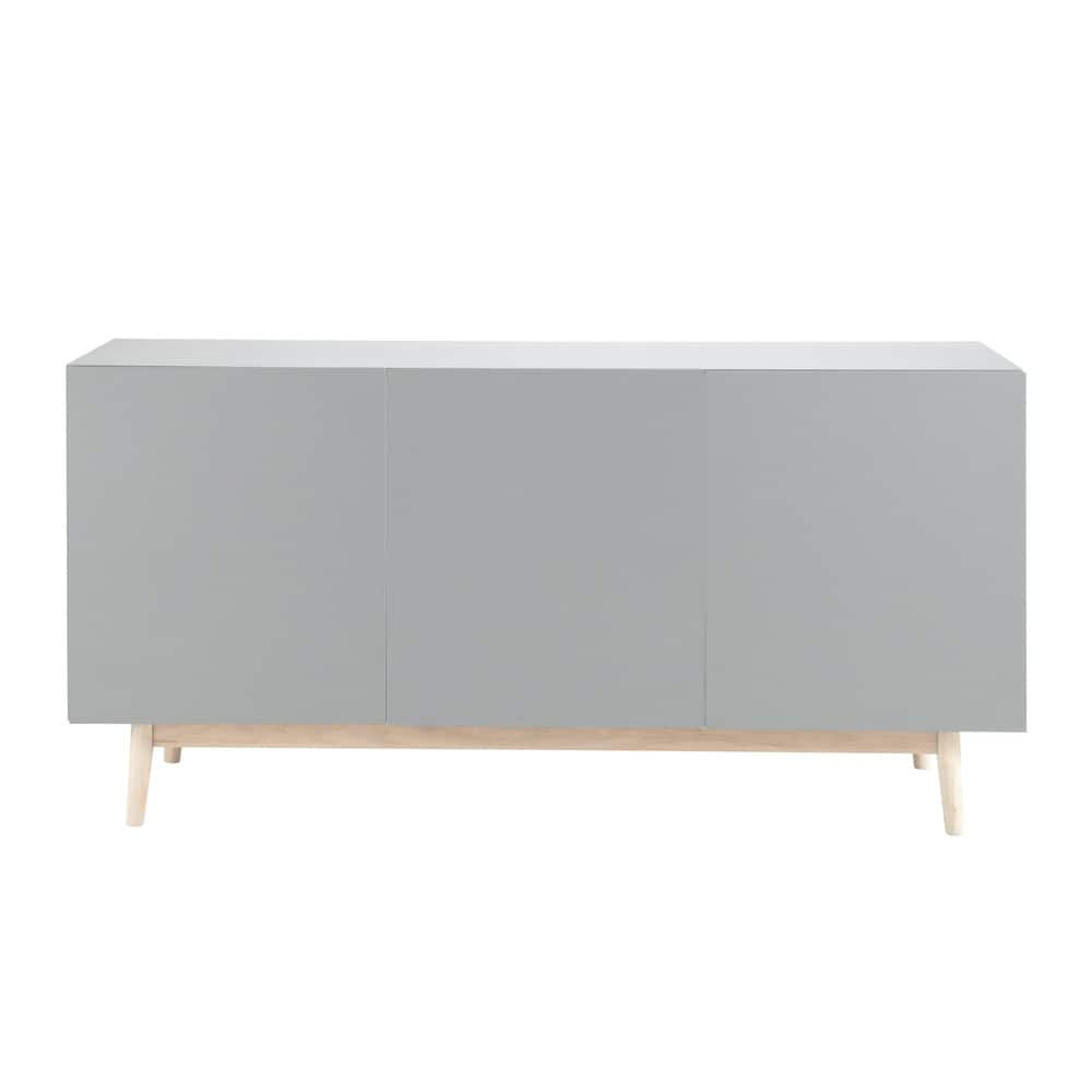 vintage sideboard in grey artic maisons du monde. Black Bedroom Furniture Sets. Home Design Ideas