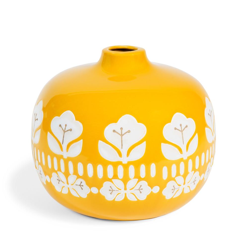 vintage yellow sandstone vase h 18cm maisons du monde. Black Bedroom Furniture Sets. Home Design Ideas