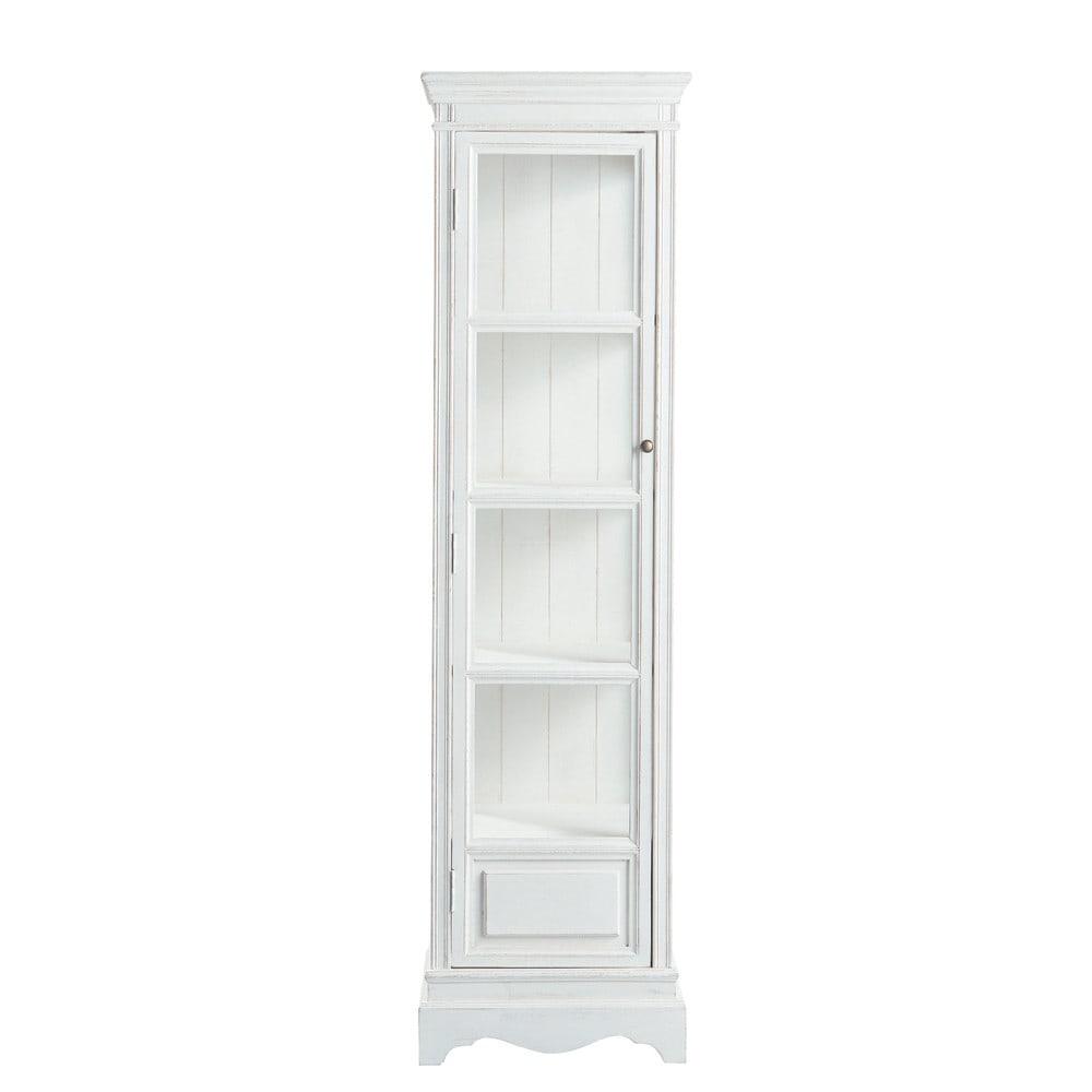 vitrine aus paulownienholz b 49 cm wei jos phine maisons du monde. Black Bedroom Furniture Sets. Home Design Ideas