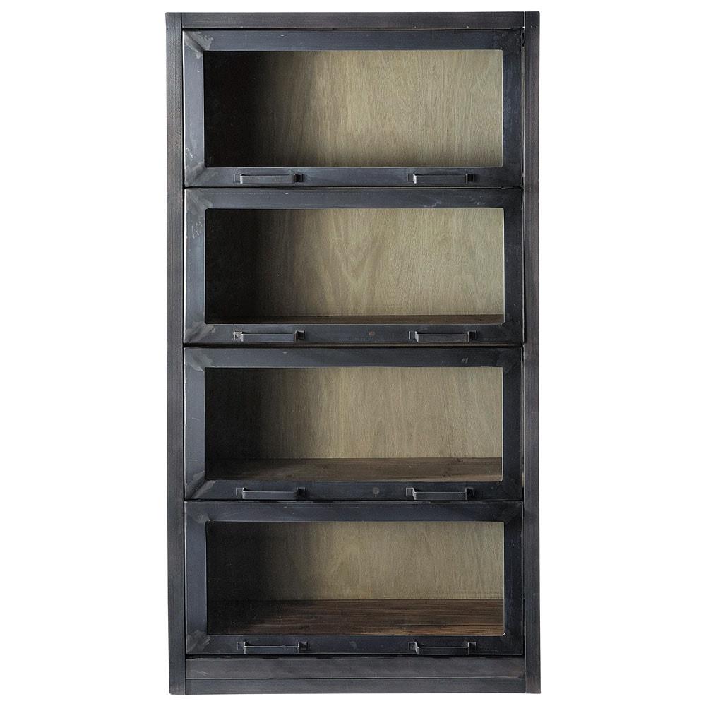 vitrine aus recyclingholz b 90 cm schwarz edgar edgar. Black Bedroom Furniture Sets. Home Design Ideas