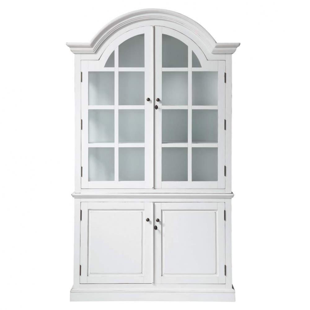 vitrine en bois blanche l 132 cm biarritz maisons du monde. Black Bedroom Furniture Sets. Home Design Ideas