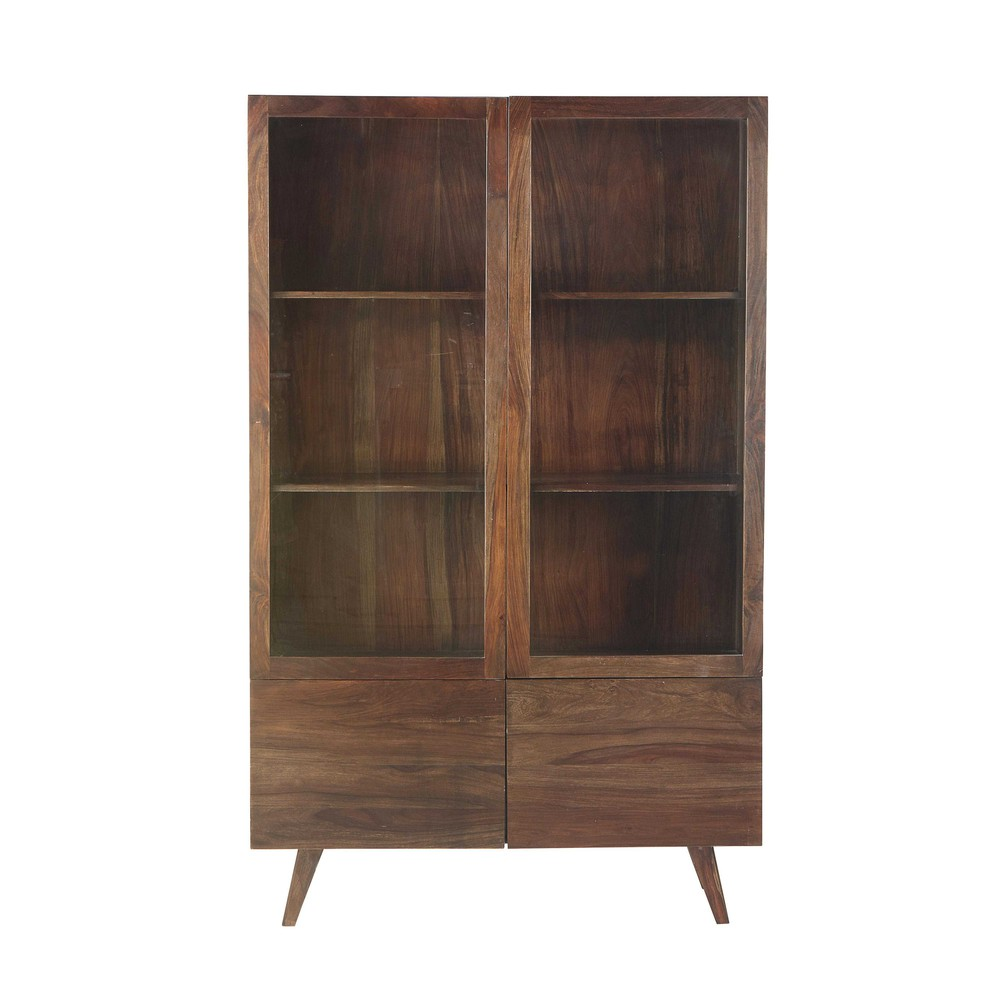 vitrine en bois de sheesham massif l 120 cm soho maisons du monde. Black Bedroom Furniture Sets. Home Design Ideas