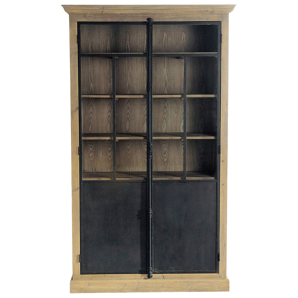 vitrine en bois recycl l 130 cm voltaire maisons du monde. Black Bedroom Furniture Sets. Home Design Ideas
