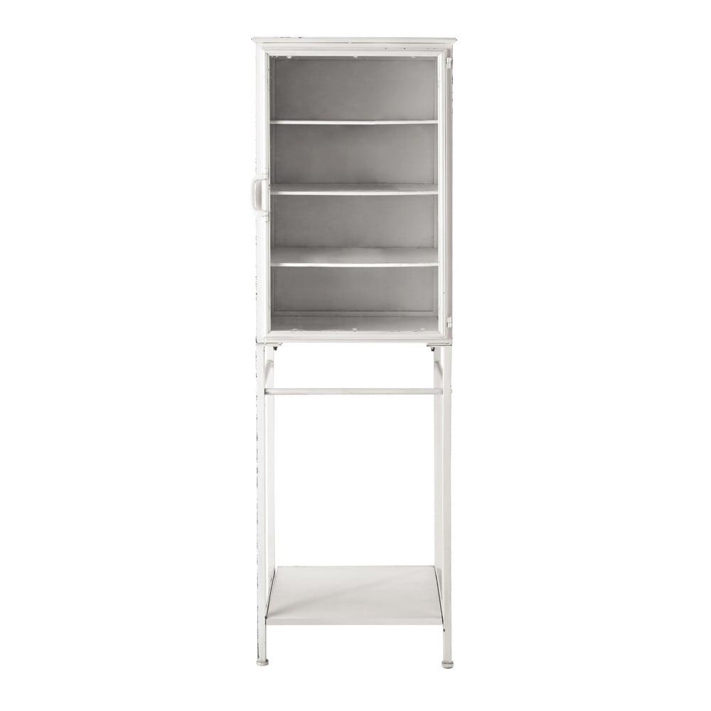 vitrine en m tal blanc cr me l 48 cm pharmacie maisons du monde. Black Bedroom Furniture Sets. Home Design Ideas