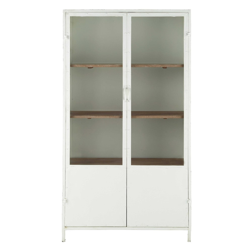 vitrine en m tal blanche l 100 cm copernic maisons du monde. Black Bedroom Furniture Sets. Home Design Ideas