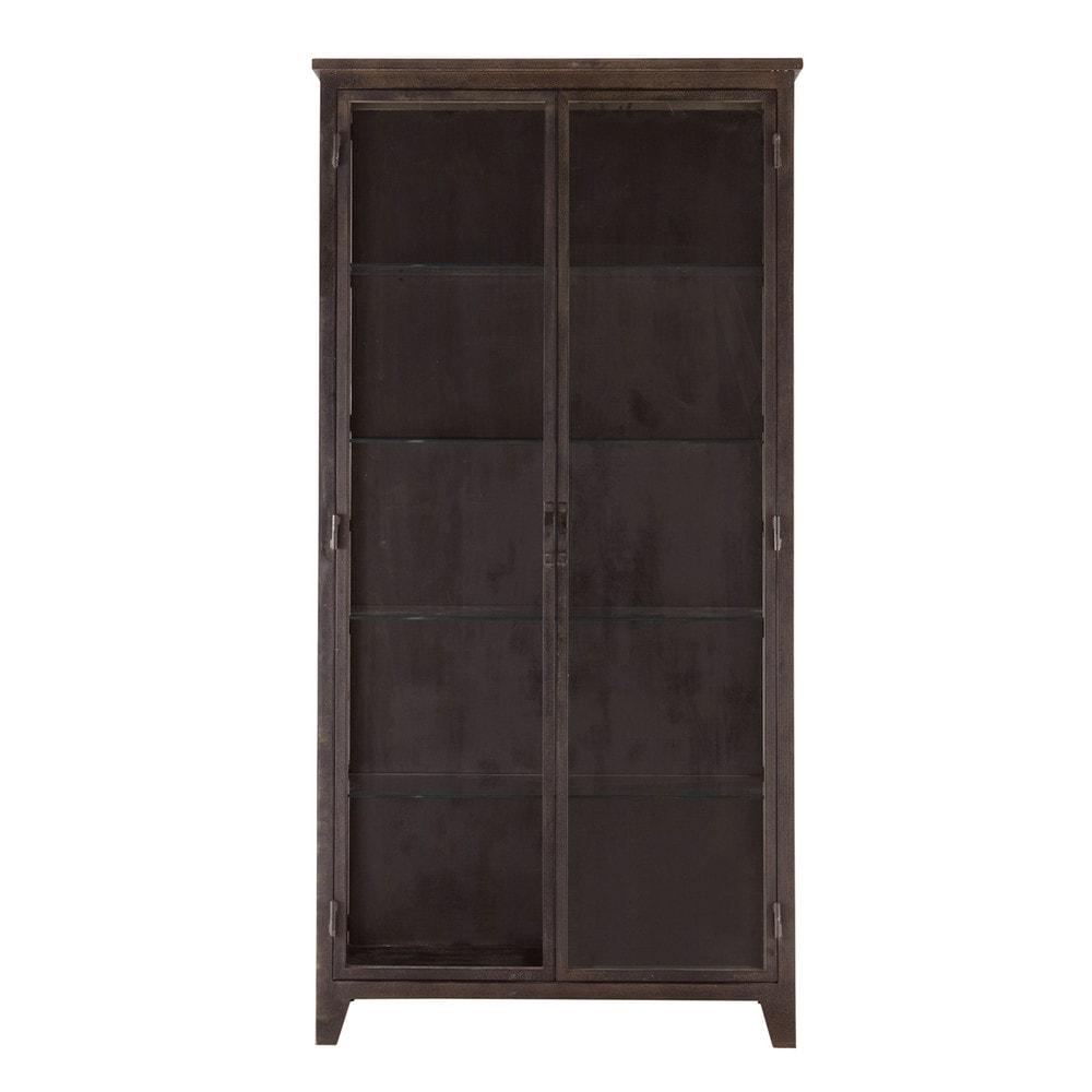 vitrine salle de bain indus grise st james maisons du monde. Black Bedroom Furniture Sets. Home Design Ideas