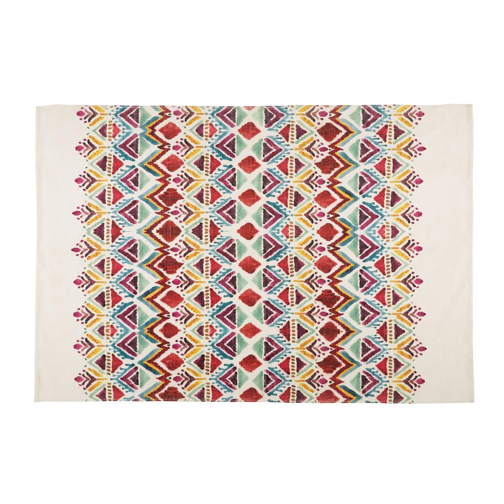 Vloerkleed met kleurrijke etnische print 140x200cm PONDICHERY   Maisons du Monde