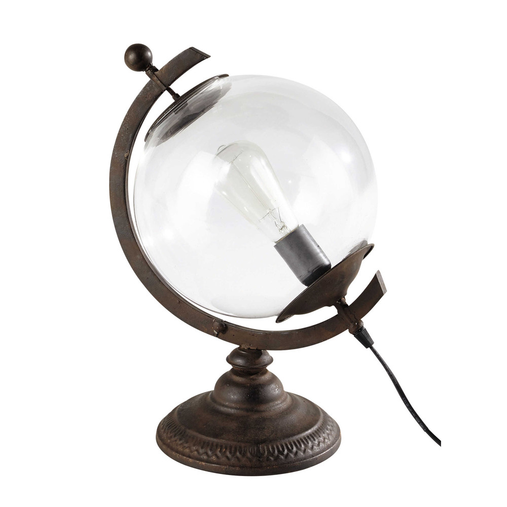 VOLTAIRE Metal And Glass Globe Lamp H 41cm Maisons Du Monde