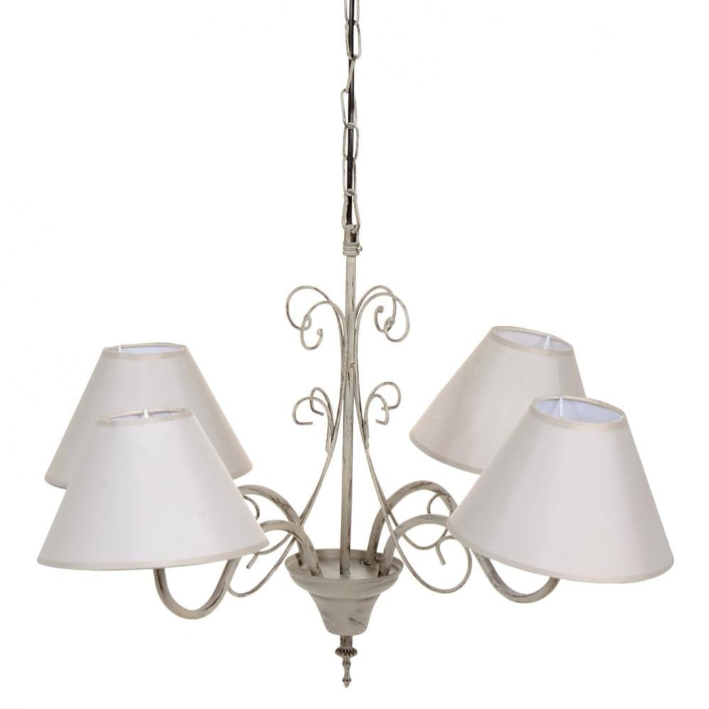 volute metal 4 branch chandelier d 60cm maisons du monde. Black Bedroom Furniture Sets. Home Design Ideas