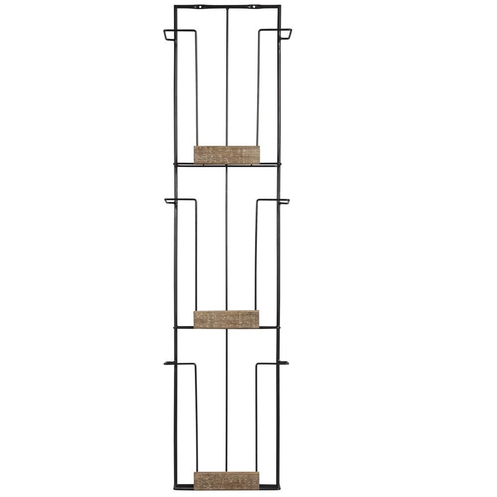wand zeitschriftenhalter aus schwarzem metall maisons du monde. Black Bedroom Furniture Sets. Home Design Ideas