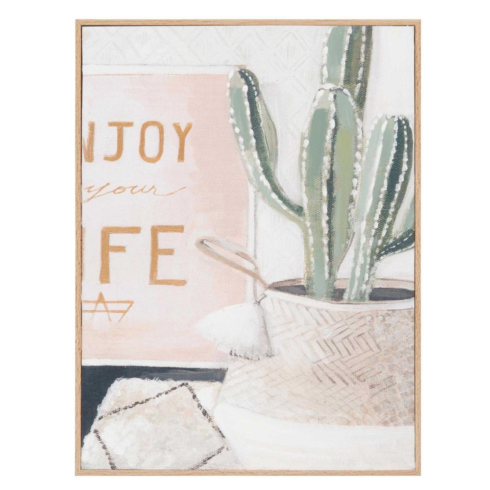 wanddecoratie cactus 35 x 33 cm isa maisons du monde. Black Bedroom Furniture Sets. Home Design Ideas