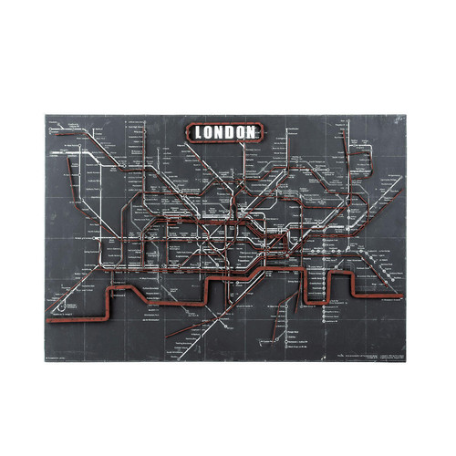 wanddecoratie metro london underground maisons du monde. Black Bedroom Furniture Sets. Home Design Ideas
