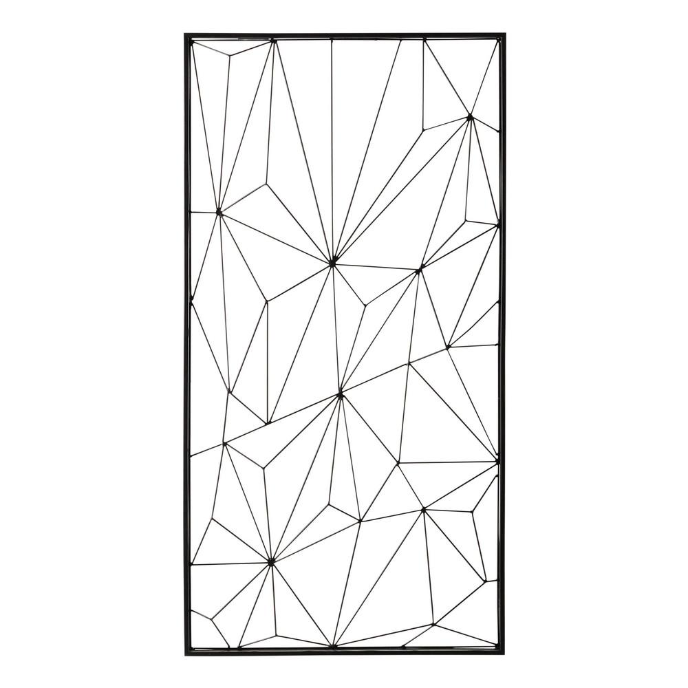 wanddecoratie zwart metaal 62 x 121 cm network