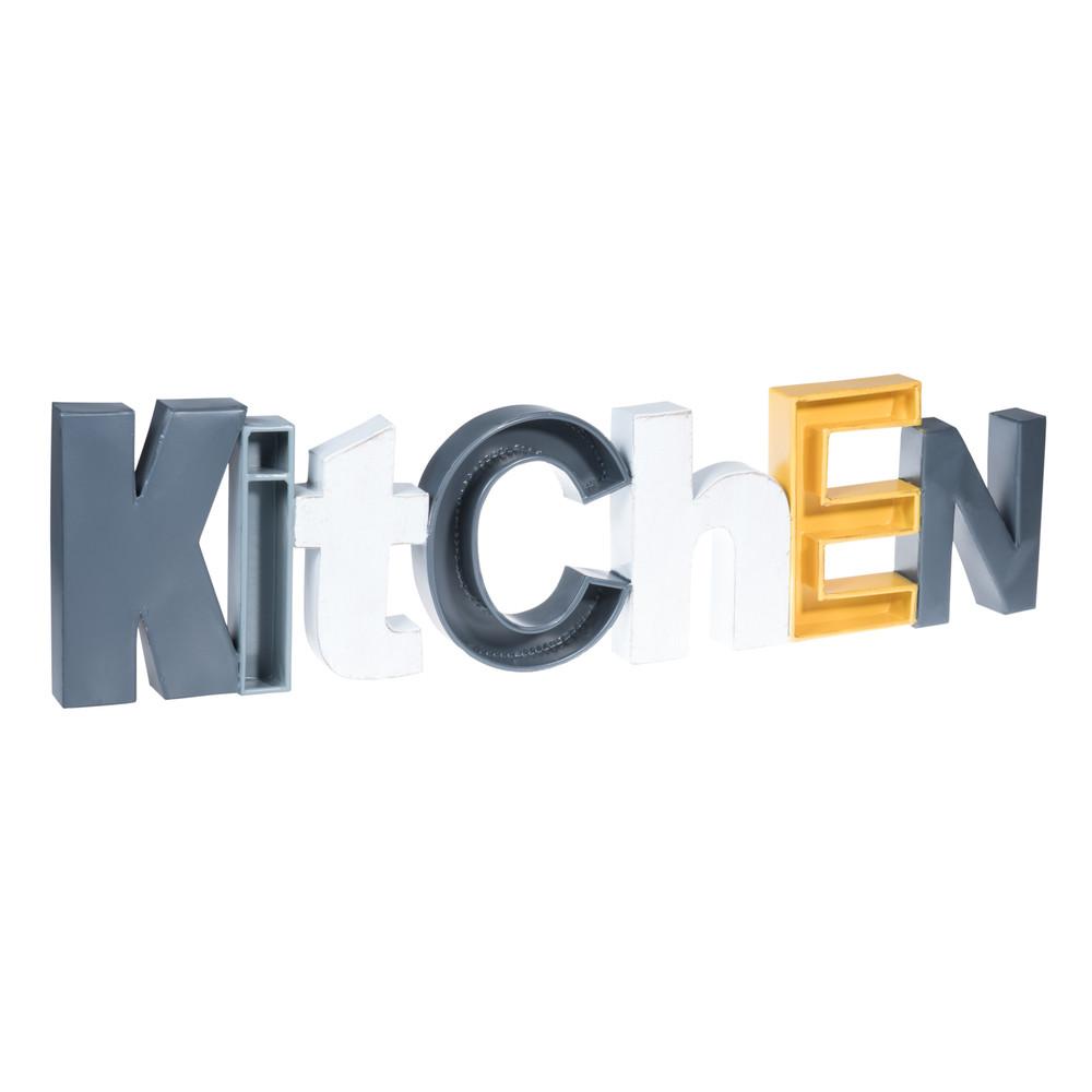 wanddekoration aus metall 22 x 85 cm kitchen maisons du monde. Black Bedroom Furniture Sets. Home Design Ideas