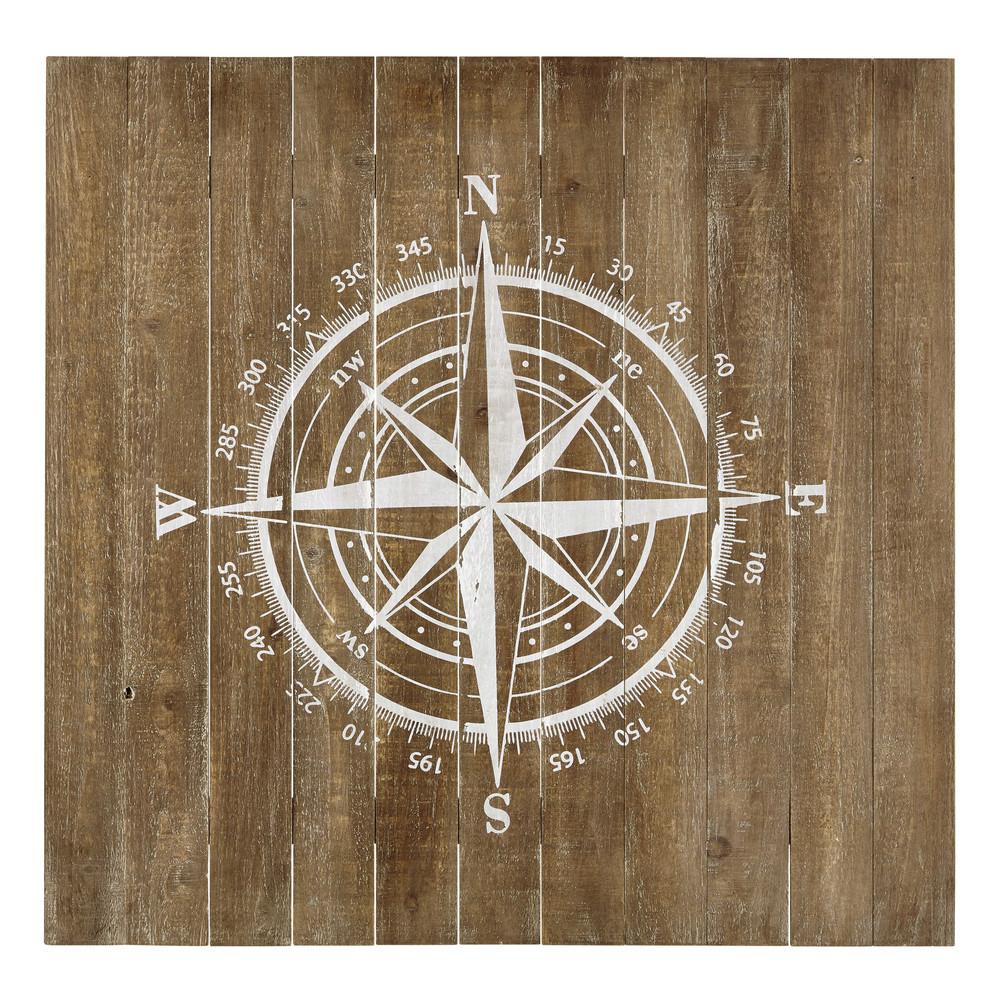 Wanddekoration kompass aus holz 90 x 90 cm maisons du monde - Wanddekoration bilder ...