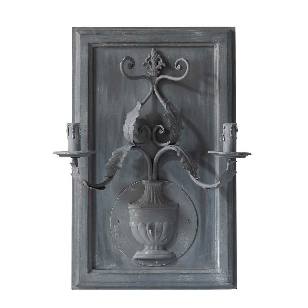Wandlamp duo artheney grijs maisons du monde - Donkere gang decoratie ...