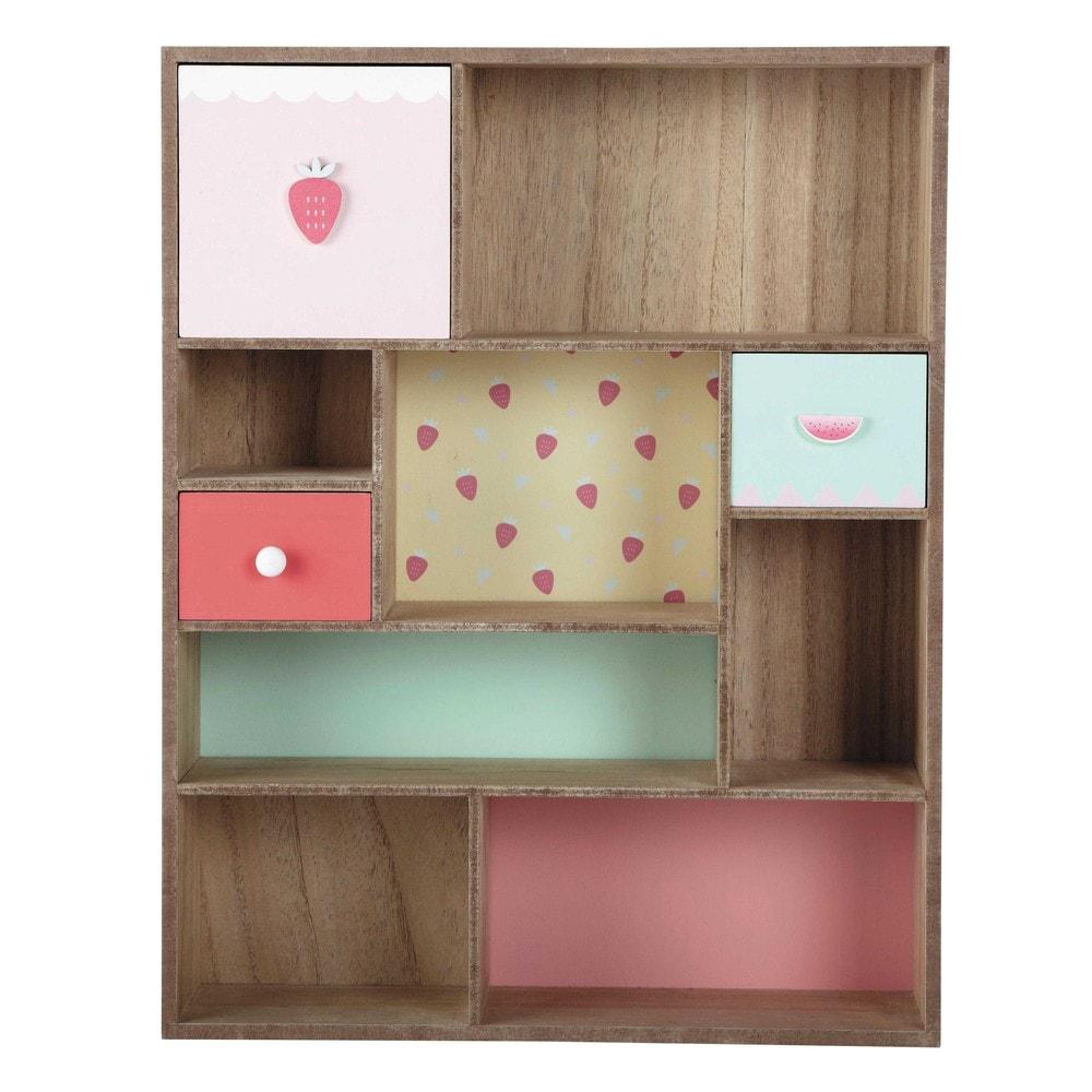 wandregal berlingot h 50 cm mehrfarbig maisons du monde. Black Bedroom Furniture Sets. Home Design Ideas