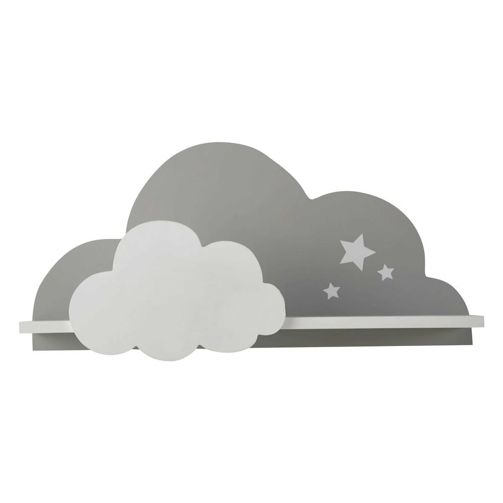 wandregal wolke wei grau 24 x 50 cm songe maisons du monde. Black Bedroom Furniture Sets. Home Design Ideas