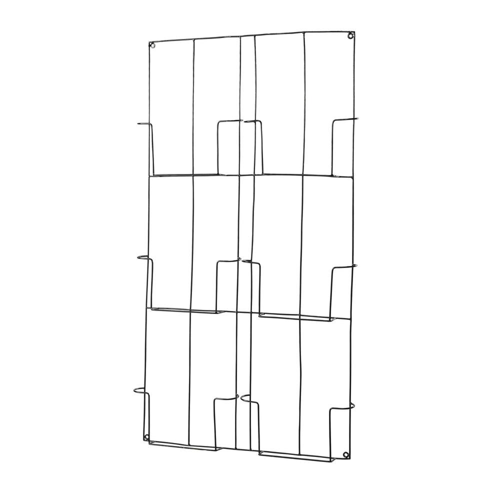 wandzeitschriftenhalter aus metall schwarz maisons du monde. Black Bedroom Furniture Sets. Home Design Ideas