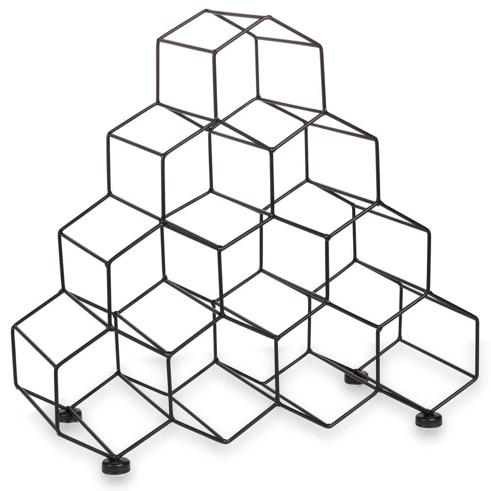 weinregal aus metall schwarz maisons du monde. Black Bedroom Furniture Sets. Home Design Ideas