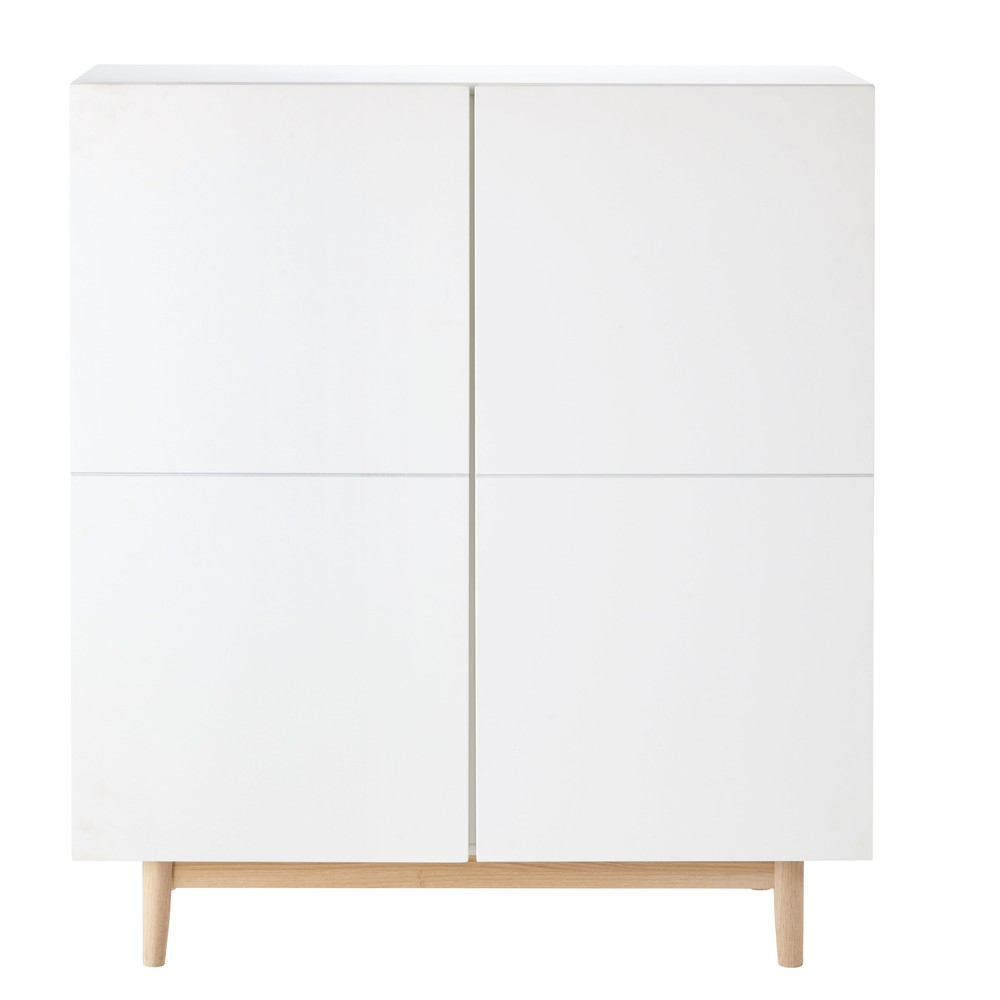 White 2-Door Cabinet Artic   Maisons du Monde