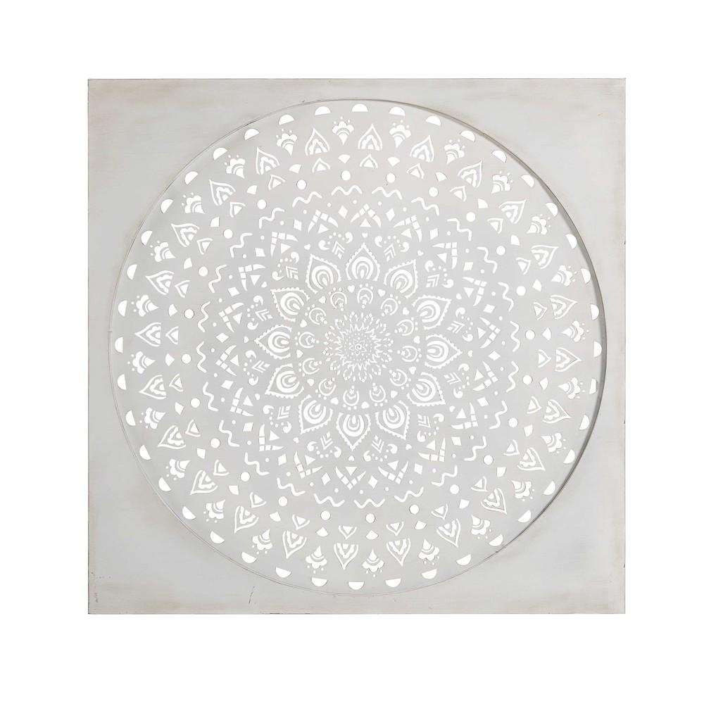 White Tin Wall Decor : White metal wall art cm sohar maisons du monde