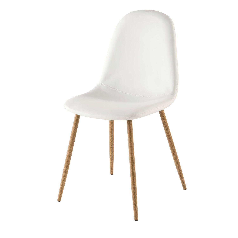 White Scandinavian Style Chair Clyde Maisons Du Monde