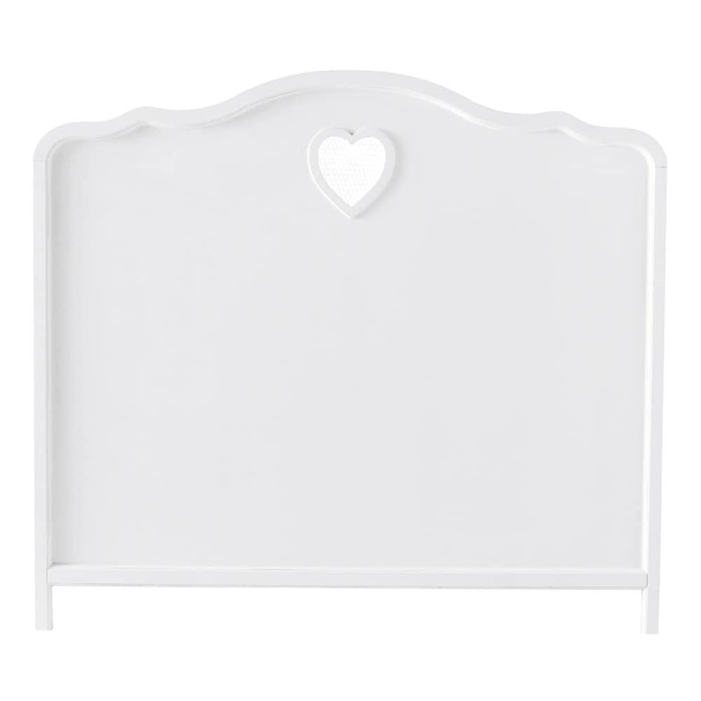 Wit houten hoofdeinde b 140 cm valentine maisons du monde - Witte hoofdeinde ...