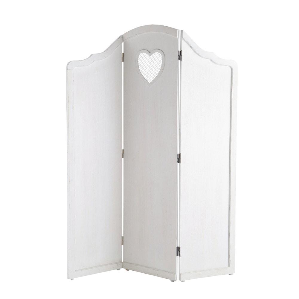 Wit houten kinderkamerscherm B 135 cm Valentine  Maisons du Monde