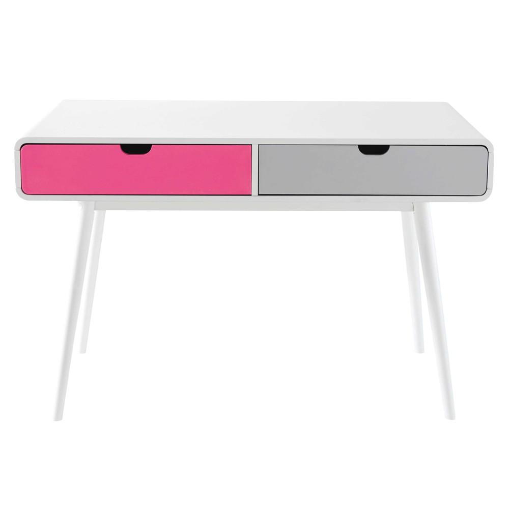 Wit houten vintage bureau b 120 cm beverly maisons du monde - Houten bureau voor kinderen ...