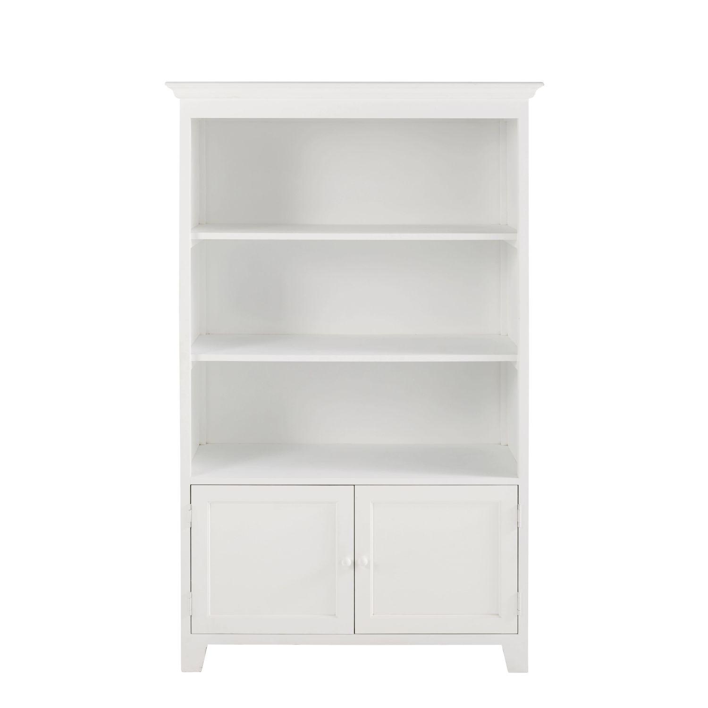 witte boekenkast met 2 deurtjes st honor maisons du monde
