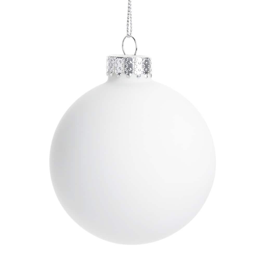witte glazen kerstbal 10 cm maisons du monde. Black Bedroom Furniture Sets. Home Design Ideas