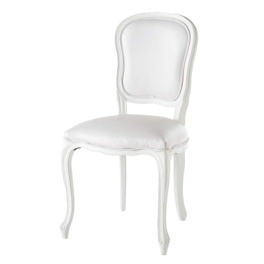 ... › meubels › Stoelen › Witte stoel voor de eetkamer VERSAILLES