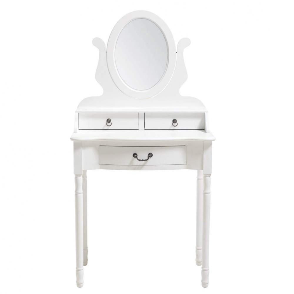 Witte toilettafel b 70 cm jos phine maisons du monde - Witte hoofdeinde ...