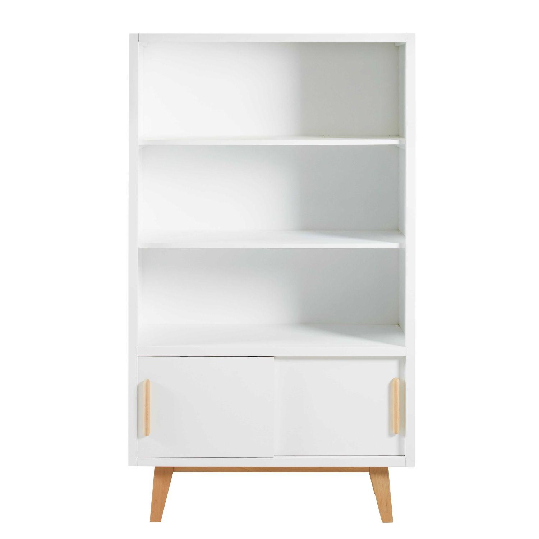 witte vintage boekenkast met 2 deurtjes sweet maisons du monde