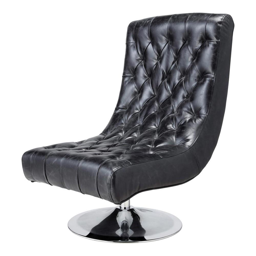 wohnzimmersessel leder schwarz im vintage stil bossley. Black Bedroom Furniture Sets. Home Design Ideas