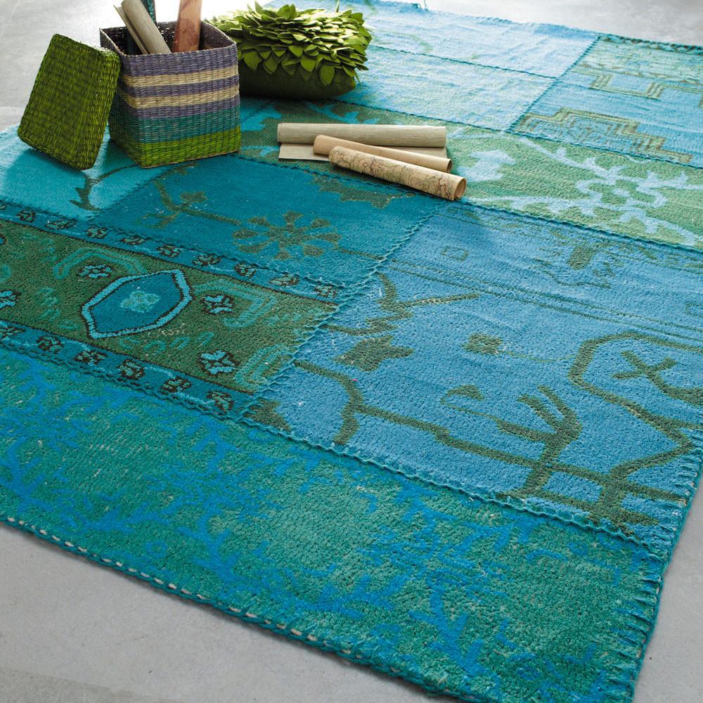Wollteppich IZMIR, 140 x 200 cm, blau  Maisons du Monde