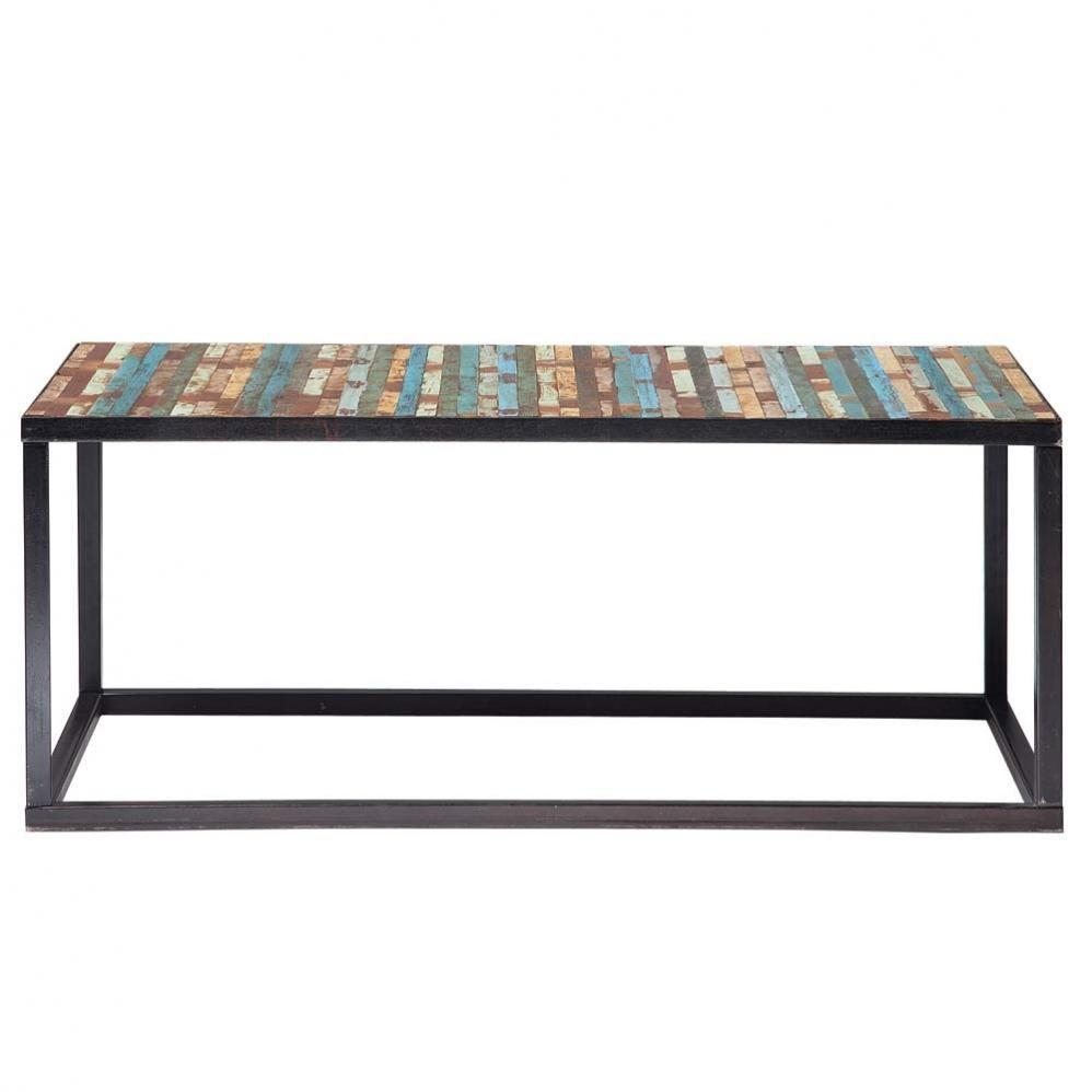 Table De Salon Maison Du Monde.Wood And Metal Coffee Table Multicoloured W 100cm Maisons Du Monde