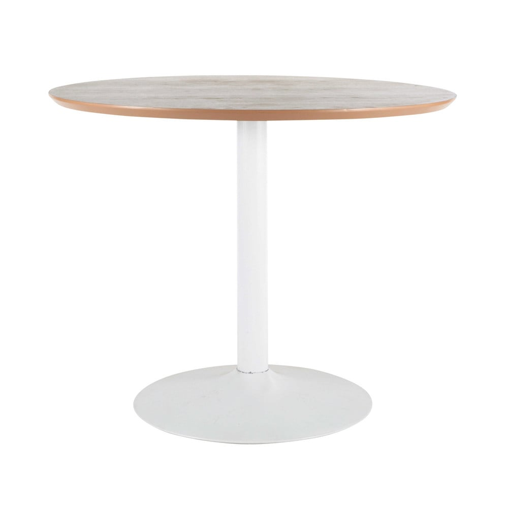 Wood and metal round dining table d 100cm circle maisons - Maison du monde table ...