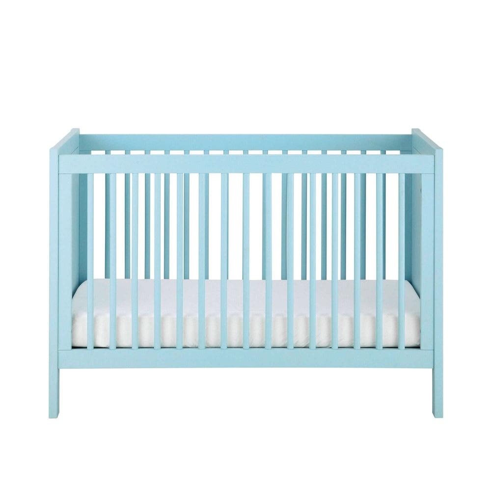 Wooden Baby Cot In Blue W 126cm Marin 150064 on Teen Bedroom Furniture Design