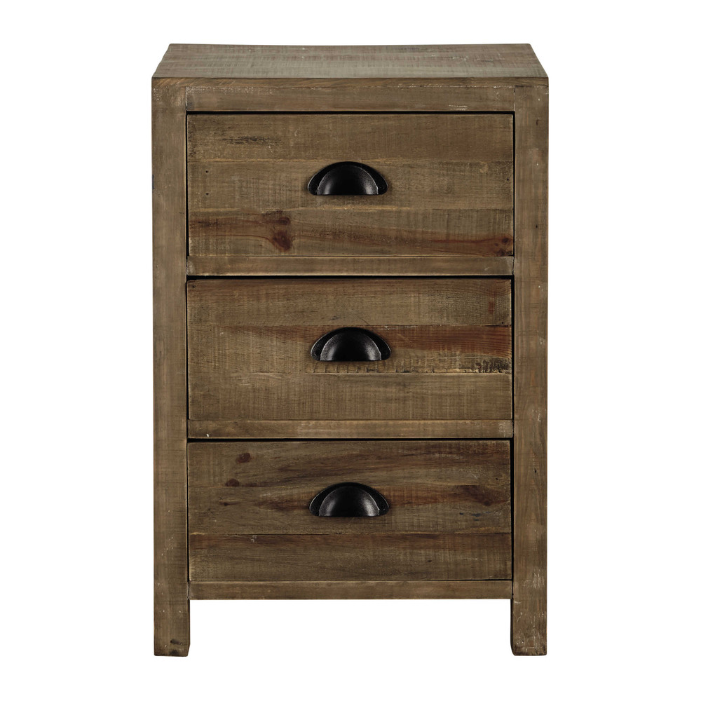 Wooden bedside table with drawer w 40cm woodpecker maisons du monde - Table chevet baroque ...