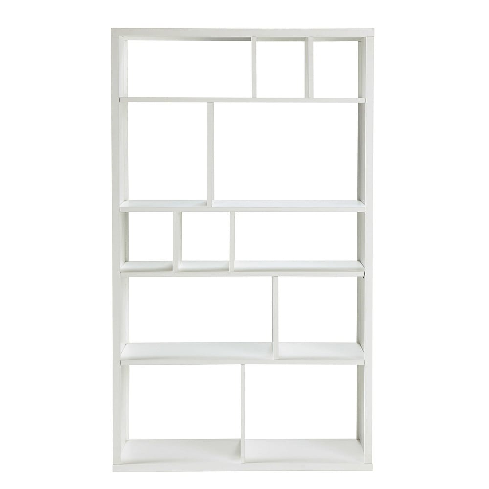 wooden bookcase in white w 100cm tonic maisons du monde. Black Bedroom Furniture Sets. Home Design Ideas