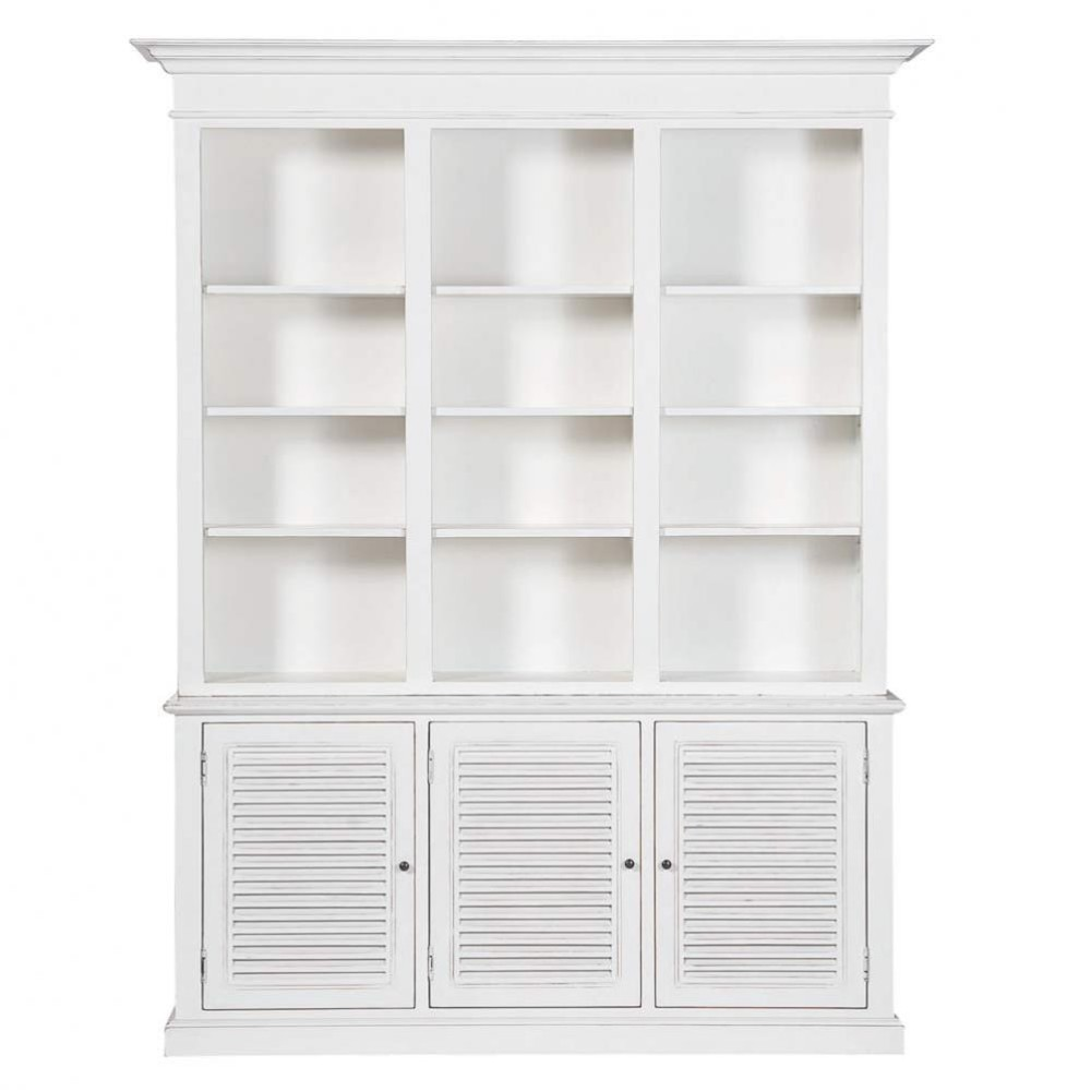 ... display cases and desks › Wooden bookcase in white W 180cm BIARRITZ