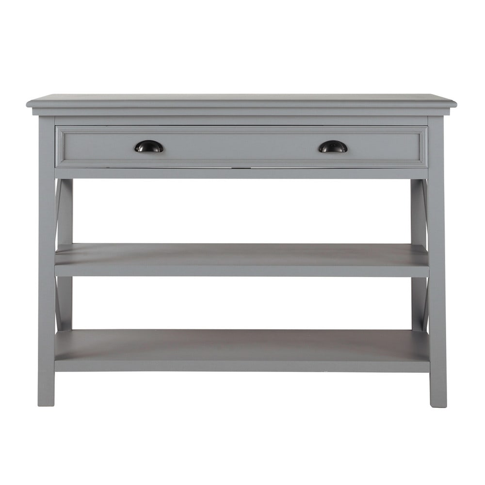 wooden console table grey l 120 cm newport maisons du monde. Black Bedroom Furniture Sets. Home Design Ideas