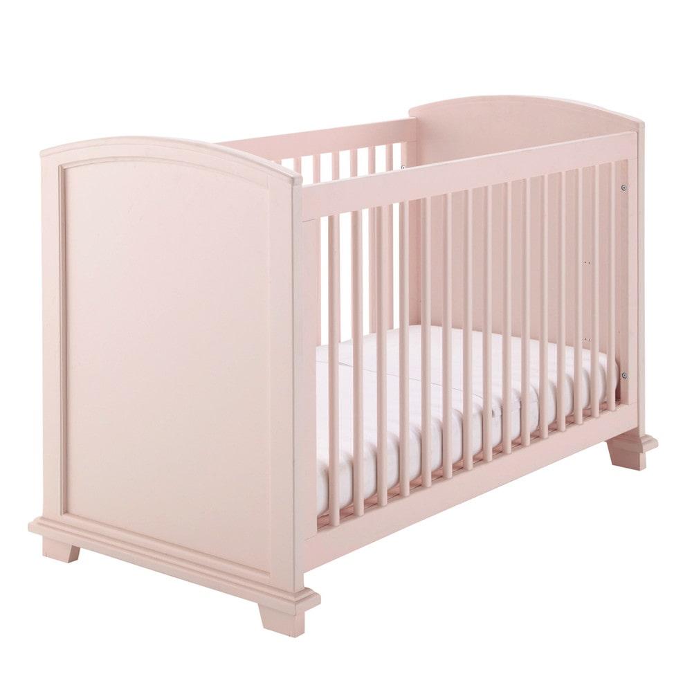 Wooden Cot In Pink W 131cm Pastel Maisons Du Monde