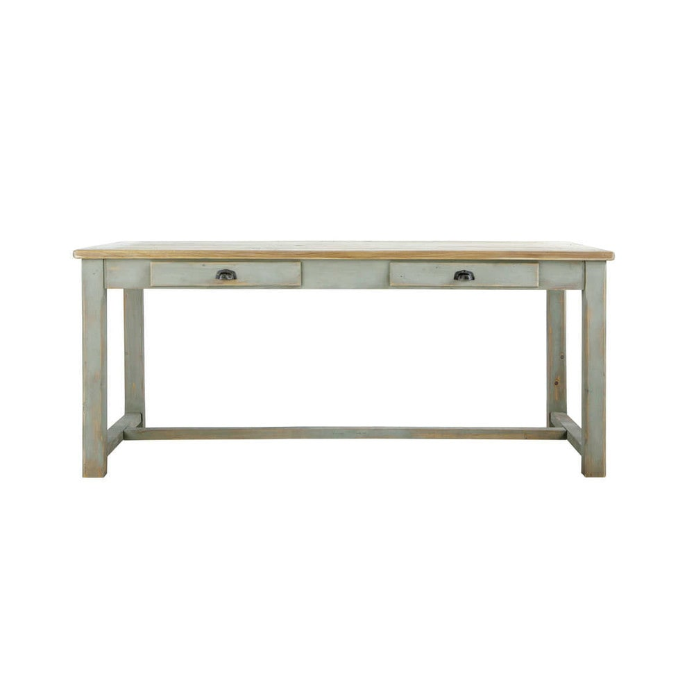 Wooden Dining Table In Grey W 180cm Sarlat Maisons Du Monde