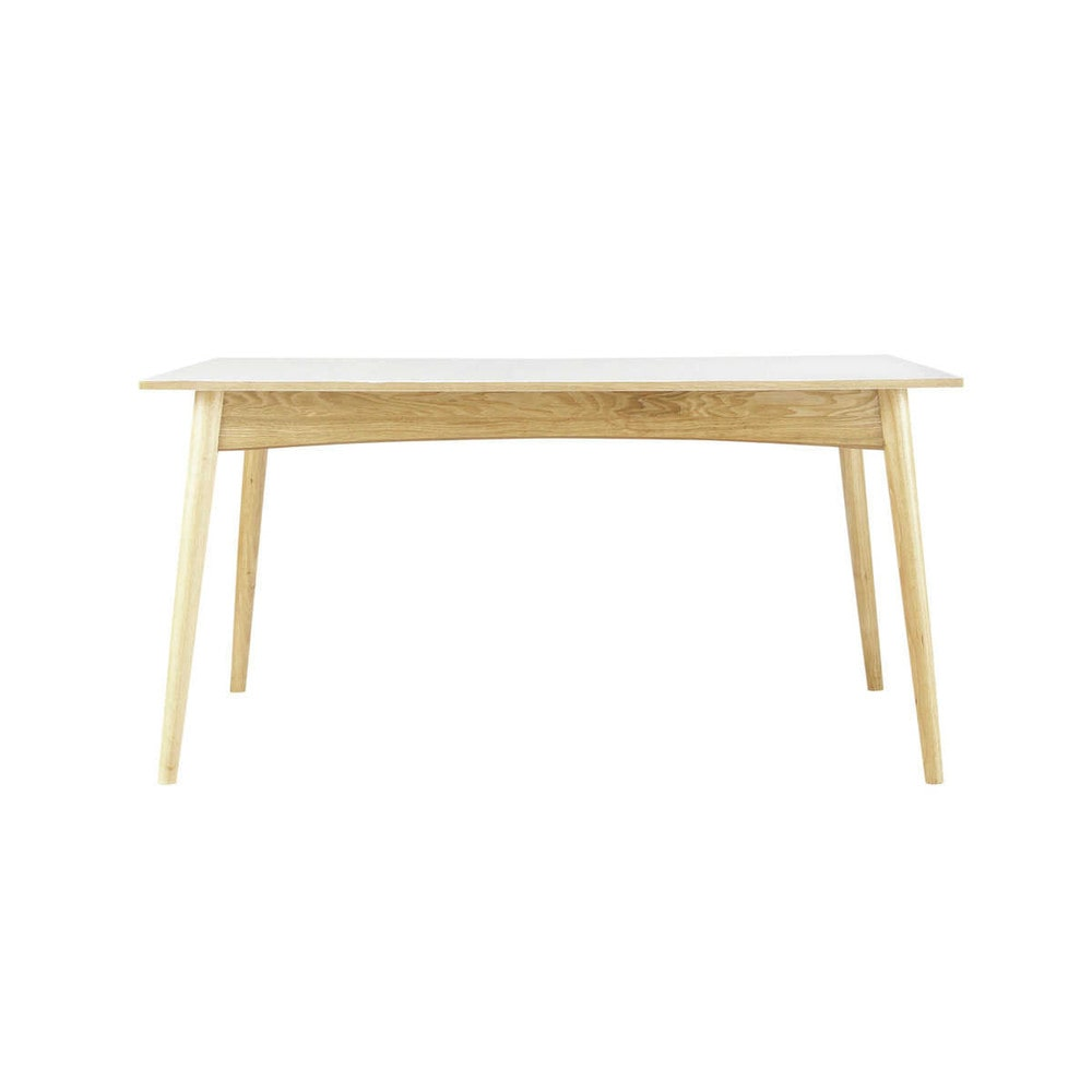 Wooden extending dining table in white w 150cm boop maisons du monde - White extending dining tables ...